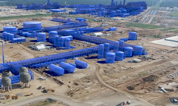 Artist Rendition of Sasol's LA Project' stage of Completion